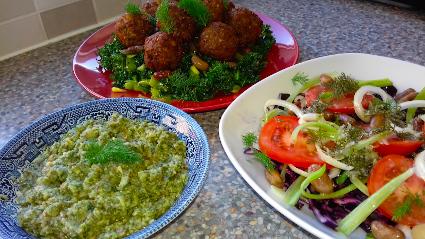 Falafel & Fennel Pesto