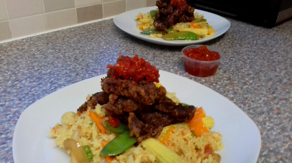 Chilli Beef with Special Fried Rice recipe