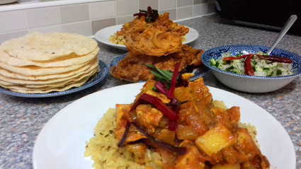 A pretty authentic tasting Chicken Madras