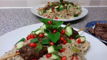 Pomegranate and Rice salad