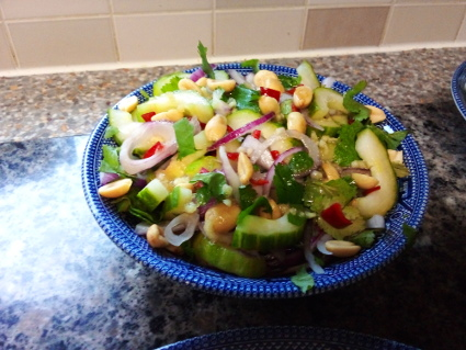 Thai Cucumber Salad recipe, eat well on universal credit