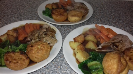 Roast Turkey Drummer and Vegan - Gluten Free Yorkshire Puddings